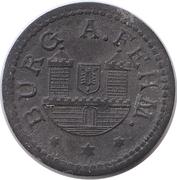 5 pfennig - Burg auf Fehmarn – avers