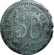 50 pfennig - Burg auf Fehmarn – revers
