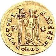 1 solidus Gondebaud / Au nom d'Anastase I, 491-518 (Lugdunum/Lyon; avec monogramme) – revers