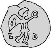 1 silique Gondebaud (Lugdunum/Lyon) – revers
