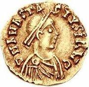 1 tremissis Sigismond / Au nom d'Anastase I, 491-518 (Lugdunum/Lyon) – avers