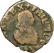 Double denier - Philippe IV d'Espagne - Pour le Comté de Bourgogne – avers