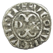 Digenois aux trèfles en 1 et 4 - Hugues IV – avers