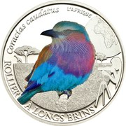500 Francs CFA (Lilac Breasted Roller) – revers