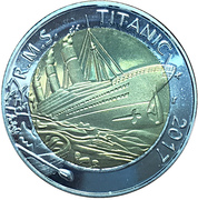 50 francs CFA,  RMS Titanic Sinking – revers