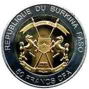 50 Francs CFA (Elephant) – avers