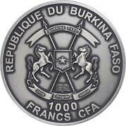 1000 francs CFA (Smilodon) – avers