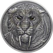 1000 francs CFA (Smilodon) – revers