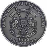 1000 francs CFA (Mammouth) – avers