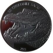 1000 francs CFA Crocodile Sacré – revers