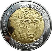 50 Francs CFA  (Tiger) – revers