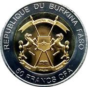 50 Francs CFA (Éléphant) – avers