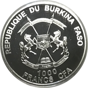 1000 Francs CFA (Poseidon) – avers