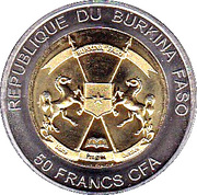 50 Francs CFA (White Rhinoceros) – avers
