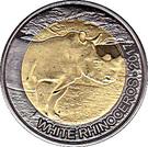 50 Francs CFA (White Rhinoceros) – revers