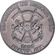 1000 francs CFA (Bébé mammouth) – avers