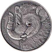 1000 francs CFA (Bébé mammouth) – revers