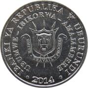 5 Francs (Bucorvus leadbeateri) – avers