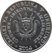5 francs (Bycanistes bucinator) – avers