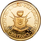 100 Francs - Mwambutsa IV (Indépendance) – revers
