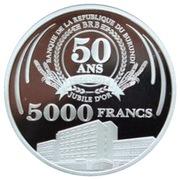5000 Francs (50ème Anniversaire de la Banque Centrale) – revers