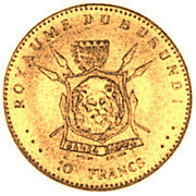 10 Francs (50ème anniversaire de règne) – revers