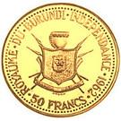 50 Francs (Indépendance du Burundi) – revers