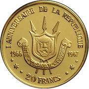20 Francs (1er anniversaire de la République) – revers
