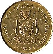 1 franc (Royaume) – avers
