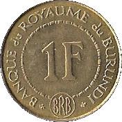 1 franc (Royaume) – revers