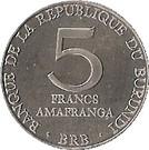 5 francs (République) – revers