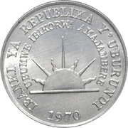 1 franc (République) – avers