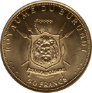 50 Francs - Mwambutsa IV (Anniversaire du règne) – revers
