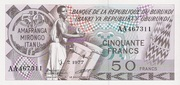 50 Francs Typre 1977 – avers