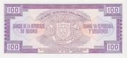100 Francs Type 1977 – revers