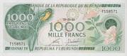 1000 Francs Type 1977 – avers