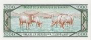 1000 Francs Type 1977 – revers