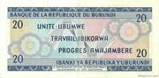 20 Francs Type 1968 – revers