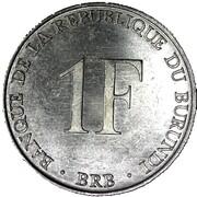 1 franc (République) -  revers