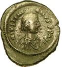 Pentanummium - Justinien Ier (Constantinople, variante à l'officine) – avers