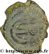 Pentanummium - Justin Ier (Constantinople, variante CON + officine) – revers