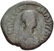40 Nummi - Justinian I (Constantinopolis; Type ✶M♁) -  avers