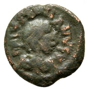 2 Nummi - Justinian I (Thessalonica) -  avers