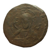Michael Vii, Nimbate Christ, Patriarchal Cross, Crusades, Ancient Byzantine Coin -  avers