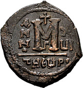 Follis - Maurice Tiberius (Antioch mint) -  avers
