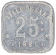 25 Centimes Union commerciale - Caen [14] – revers
