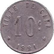 10 centimes - Union Commerciale et Industrielle - Caen [14] – revers