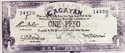 1 Peso (Cagayan) – avers