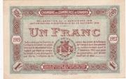 1 franc - Chambre de Commerce de Cahors [46] – revers
