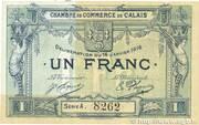 1 franc - Chambre de Commerce de Calais [62] – avers